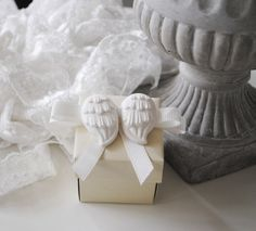 Baptism Favor Box- Baby Shower Box-Bridal Shower Box-Wedding Favor Box with plaster of paris angel wings-Candy Box- Set of 20
