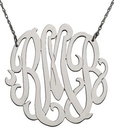 West Avenue Jewelry Large Monogram Necklace