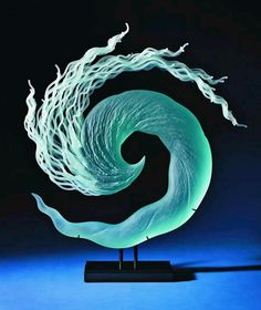 Glass Sculpture by artist K. William LeQuier. When Turbo Charged Reading you 'feel' the text http://youtu.be/Qlf74Lr_xbQ