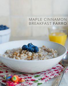 Maple Cinnamon Breakfast Farro | Kitchen Confidante
