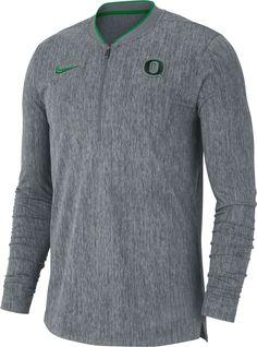 6fcbbe11e Nike Men s Oregon Ducks Grey Coach Half-Zip Football Sideline Jacket