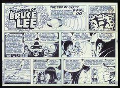 Early 1980s Bruce Lee Original Sunday Comic Strip Art 5 | eBay