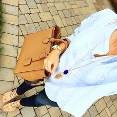 IG @mrscasual <Click through to shop this look> Chicwish light blue top. Old Navy Maternity rockstar skinny jeans. Tory burch miller sandals. Robinson tote bag. Navy Rayne necklace.