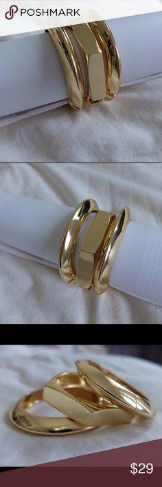 BRAND NEW Adia Kibur gold bangle bracelets Brand new set of 3 gold bangle bracelets. Matches everything. Can be dress up and down. Never been worn. Very good quality Adia Kibur Jewelry Bracelets