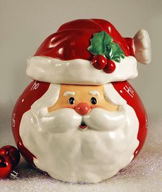 357 Best Santa Cookie Jars Images In 2020 Cookie Jars Christmas