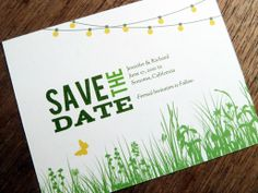 Printable Save the Date Card - Garden Party