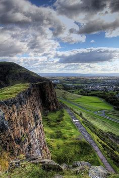 Arthur's Seat and Salsbury Crags, Edinburgh. Hiked up here many times, loved it, bit of amateur rock climbing...great exercise and i love being outdoors.