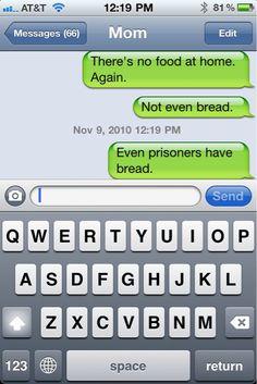LMAO! Even Prisoners Have Bread