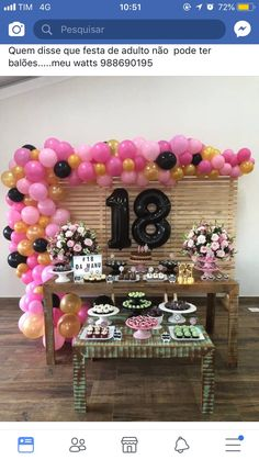 welcome home party ideas Birthday Goals, 18th Birthday Party, Happy Birthday, Diy Birthday Decorations, Flamingo Party, Birthday Design, Diy Party, Holidays And Events, Party Themes
