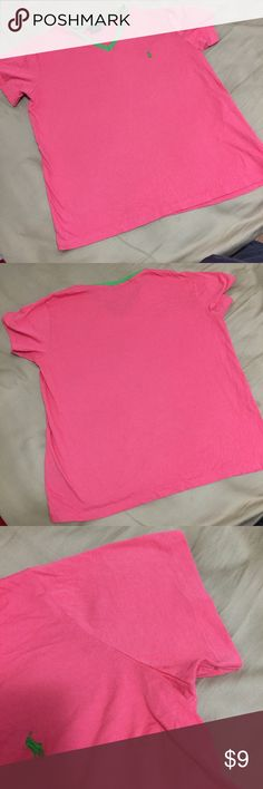 Ralph Lauren Polo Bright pink and green polo top! Great condition! Ralph Lauren Tops Tees - Short Sleeve