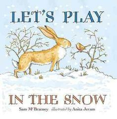 Little Nutbrown Hare loves playing in the snow with Big Nutbrown Hare.