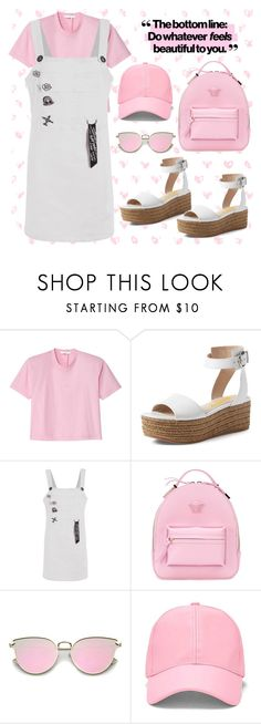 """""""Pink Style"""" by fsjamazon ❤ liked on Polyvore featuring TIBI, Versace and Forever 21"""