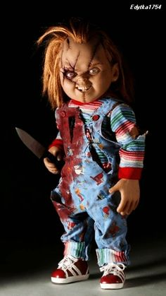 Sideshow Seed Of Chucky Life size doll Scale prop Child's Play No Medicom in Entertainment Memorabilia, Movie Memorabilia, Props Horror Icons, Horror Films, Arte Horror, Horror Art, Chucky Makeup, Chucky Movies, Chucky Costume, Childs Play Chucky, Bride Of Chucky