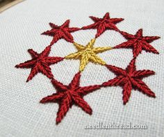 Star Stitch - Grouping together embroidered stars