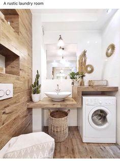 Laundry Room Bathroom, Modern Laundry Rooms, Laundry Room Design, Modern Bathroom, Small Bathroom, Bathroom Vinyl, Bathroom Ideas, Bohemian Bathroom, Bath Room