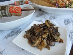 Honeyed Sesame Oyster, Crimini and White Button Mushrooms {Via Beyond The Peel}