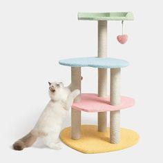 Heart Shaped Cat Climbing Tree Cat Paws, Dog Cat, Cat Trees Cheap, Cat Climbing Tree, Cat Gym, Cat Drinking, Cat Supplies, Cat Health, Betta Fish