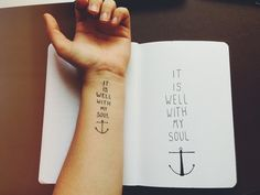 It Is Well With My Soul | Tatspiration.com - Your home for discovering tattoo ideas and tattoo inspiration.