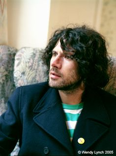 Gruff Rhys ( is a Super Furry Animal ) Beard and pea coat...what a combo x