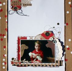 I have just done some shop samples for Tomorrow's Memories using the new Mix & Match Collection from Kaisercraft and thought I'd share t. Scrapbooking Layouts, Scrapbook Pages, Book Layouts, Number 27, Xmas Photos, Christmas Scrapbook, Kraft Paper, Mix N Match, Photoshoot