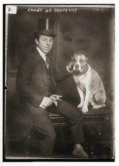 Count de Beaufort with Dog.  Location unknown.  Information on the 'Count' still to be verified.