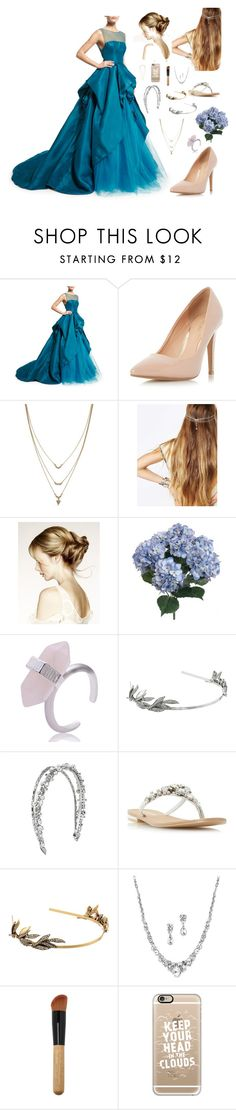 """""""Gown No Frown"""" by sdekock2412 ❤ liked on Polyvore featuring Monique Lhuillier, Dorothy Perkins, Jessica Simpson, REGALROSE, Oscar de la Renta, Head Over Heels by Dune and Casetify"""