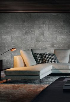 modern grey  beton interior Spaces . . . Home House Interior Decorating Design Dwell Furniture Decor Fashion Antique Vintage Modern Contemporary Art Loft Real Estate NYC Architecture Inspiration New York YYC YYCRE Calgary Eames