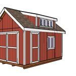 This step by step diy project is about shed with porch plans. I have designed this shed with a gable roof and with a generous side porch so you can shelter an ATV or a snowmobile, while having a generous storage area. Lean To Shed Plans, Run In Shed, Free Shed Plans, Diy Storage Shed Plans, Diy Shed, 12x24 Shed, Shed Frame, Shed With Porch, Shed Floor