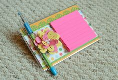 How To Make Punched Flower Post-It Stand: A Cherry On Top