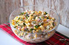 Sałatka świąteczna Barbary Bon Appetit, Pasta Salad, Quinoa, Potato Salad, Vegetables, Ethnic Recipes, Food, Crab Pasta Salad, Essen