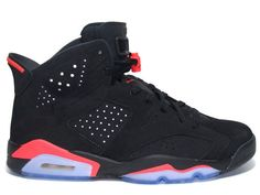 bc07faf9412 Air jordan 6 black infrared men size 1 2 3 4 5 6 7 8 9 10 11 12 13 14 15