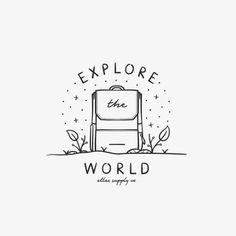 Explore the World Backpack Bullet Journal Drawing<br> Here is a list of 40 simple things to draw for your bullet journal. The perfect way to liven up your bullet journal is with art and little doodles. Doodle Drawings, Easy Drawings, Doodle Art, Cute Drawings Tumblr, Little Doodles, Travel Drawing, Bullet Journal Inspiration, Art Sketches, Black And White