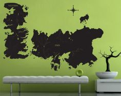 Game of Thrones World Map Art Wall Vinyl Decal (WD0708)