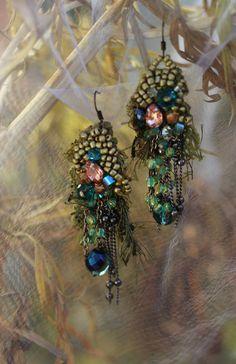 Dryad romantic lightweight bohemian earrings hand by FleursBoheme