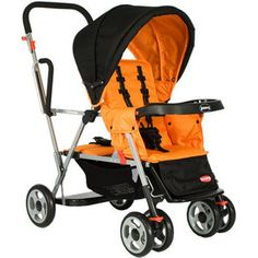 Saw this stroller recently at a park and had to have it. With a three year old and an infant, this is perfect. Five point harness & infant seat adapter for baby & toddler seat for my big guy!