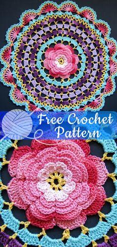 Sunrise Motifs Doily Crochet Pattern Marvelous Motifs Doilies HOWB Series