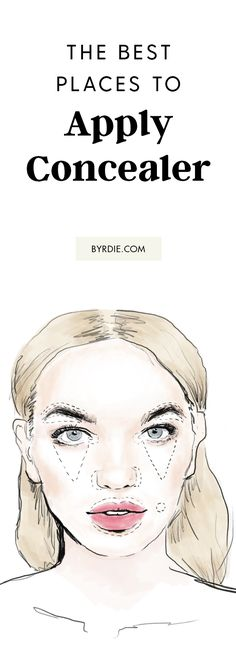 The best places to apply concealer