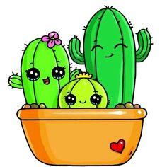 """Résultat de recherche d'images pour """"dessin kawaii cactus"""""""
