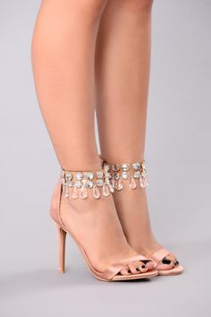 Vivian Jeweled Heel - Mauve
