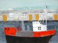 the wayfayer in newlyn harbour Elaine Pamphilon