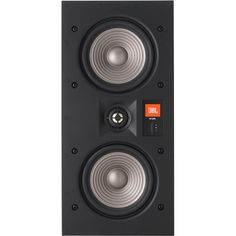"""JBL - Studio 2 Dual 5-1/4"""" 2-Way In-Wall Loudspeaker (Each) - Black"""