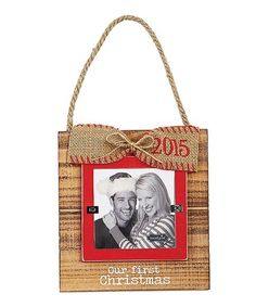 Loving this 'Our First Christmas' Hanging Frame on #zulily! #zulilyfinds
