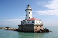 Chicago harbour lighthouse, IL