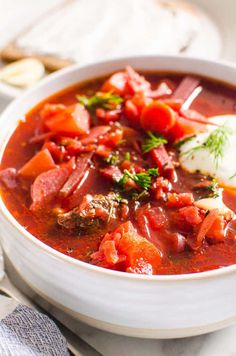 Beet Recipes, Easy Soup Recipes, Healthy Dinner Recipes, Cooking Recipes, Polish Recipes, Simple Recipes, Traditional Borscht Recipe, Sweet And Sour Soup, Borscht Soup