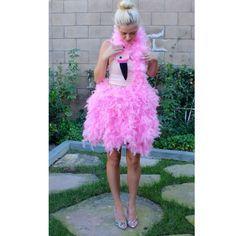 DIY Flamingo Halloween Costume Style by Dani https://youtu.be/ogvUY0PByes