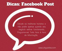 Quer melhorar suas postagens no facebook?  Dica 1 #dica #facebook #post #midiassociais #socialmedia