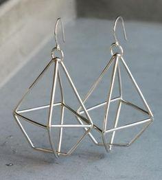 Diamond Wire Sterling Silver Earrings