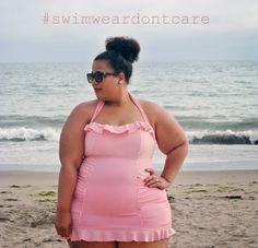 GarnerStyle | The Curvy Girl Guide: Polka Dot Beaches #swimweardontcare