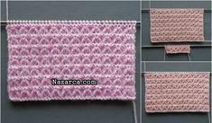 ÖRGÜ MİNİK DÜĞÜMLER LASTİK VE ÖRNEK YAPIMI | Nazarca.com Boutique Homes, Knit Vest, Baby Patterns, Home Textile, Comforters, Duvet, Cotton Fabric, Cross Stitch, Textiles