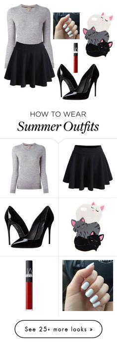 """Outfit #458"" by ivanna1920 on Polyvore featuring Burberry, Dolce&Gabbana and NARS Cosmetics"
